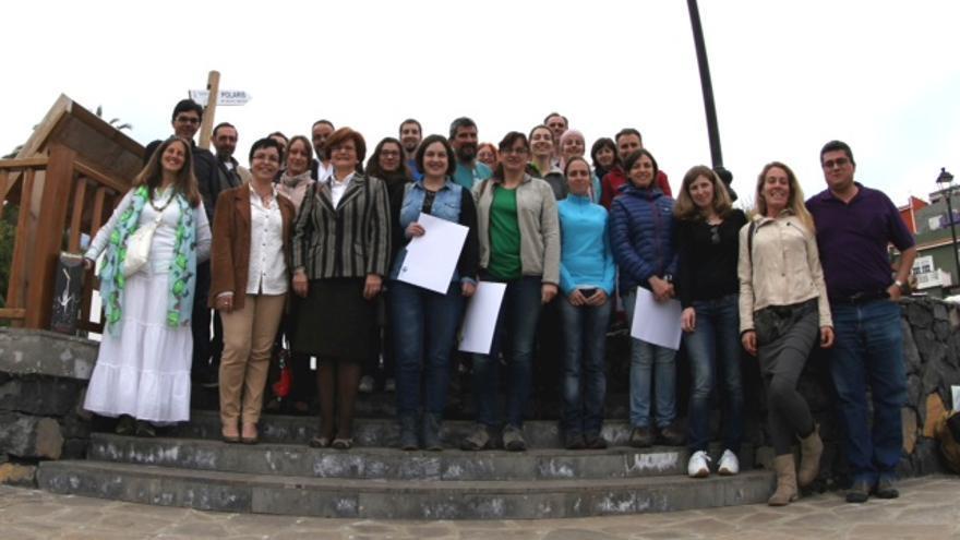 En la imagen, los participantes en el curso, procedentes de Gredos, y los monitores.