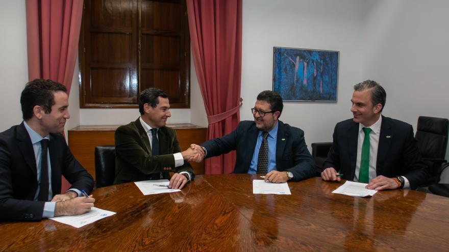 Reunión entre PP y Vox entorno al pacto de investidura en Andalucía