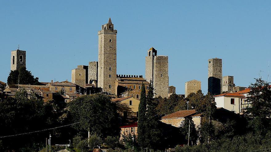 Torres medievales de San Gimignano, una de las estampas más famosas de la Toscana. Franco Vannini.
