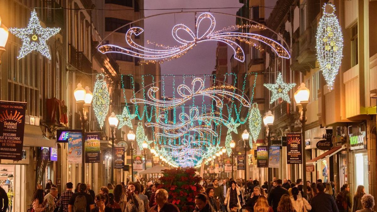 Alumbrado de Navidad en Las Palmas de Gran Canaria en 2019.