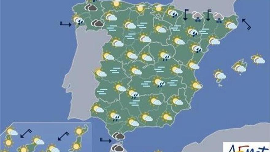 Hoy, viento fuerte en Galicia y en zonas montañosas del norte