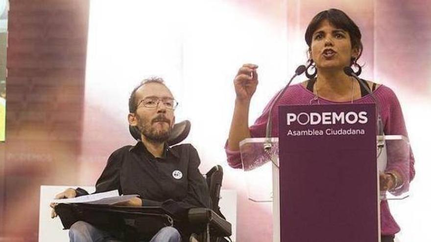 Pablo Echenique y Teresa Rodríguez.