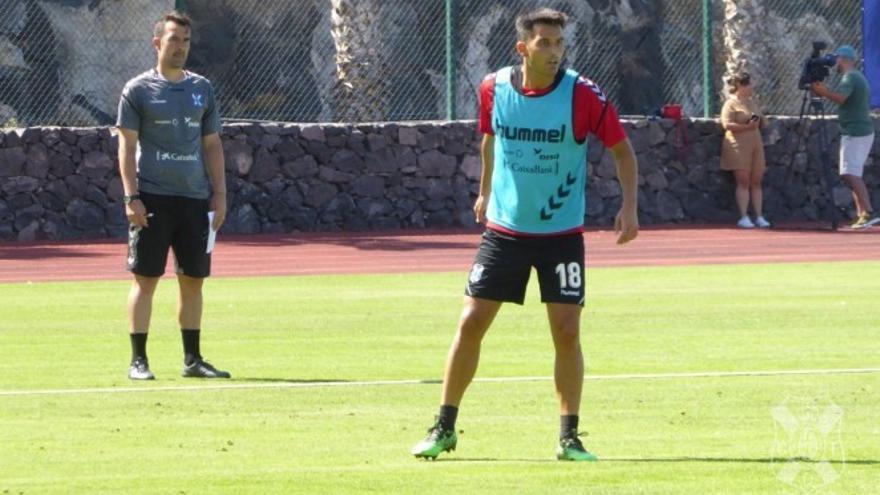 Isma López, en la pretemporada del Tenerife Top Training