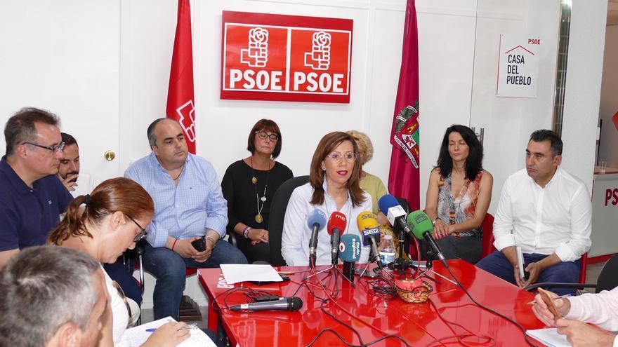 Rueda de prensa de la alcaldesa Ana Belén Castejón en la que ha anunciado que dimite de todos su cargos orgánicos