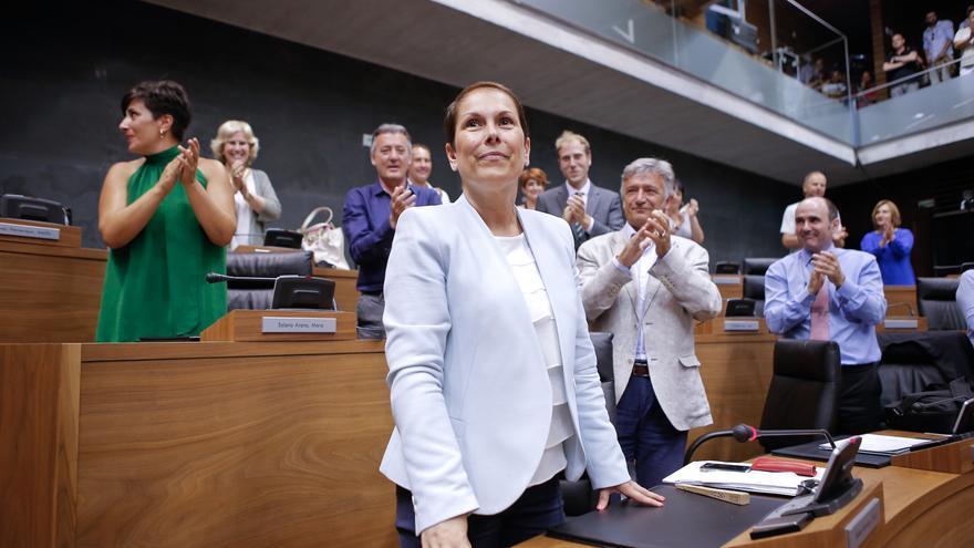 Barkos, tras ser elegida presidenta del Gobierno Foral / Foto: cedida.