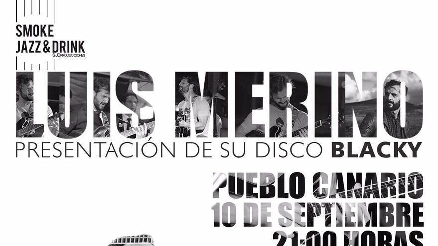 Cartel del concierto de Luis Merino