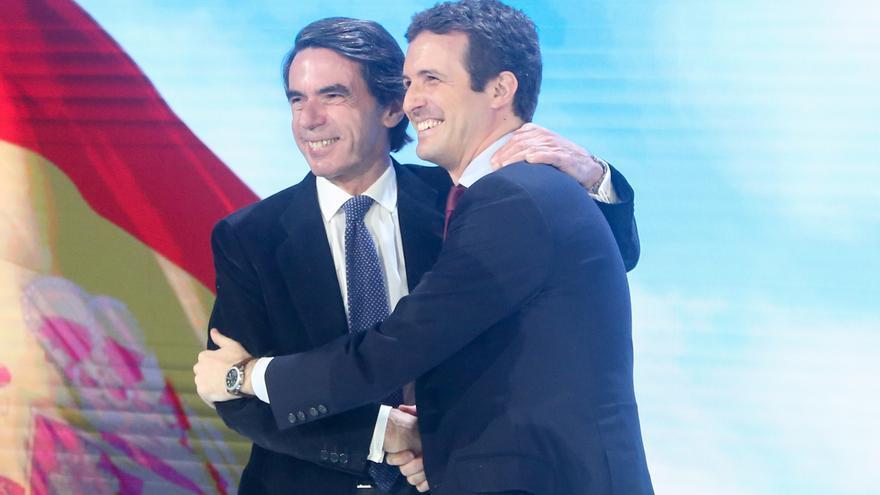 José María Aznar y Pablo Casado, en una imagen de archivo