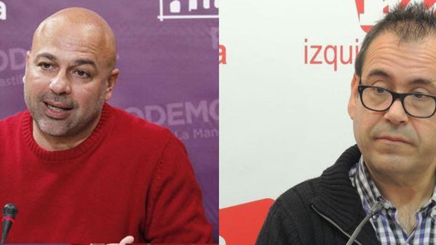 José García Molina (Podemos) y Juan Ramón Crespo (IU)