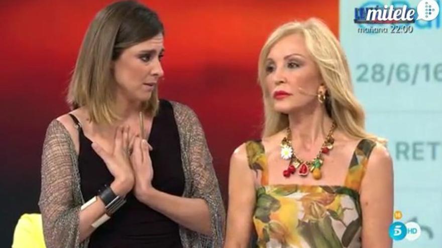 Gran bronca de Sandra Barneda a Carmen Lomana en el 'Debate de 'Supervivientes'