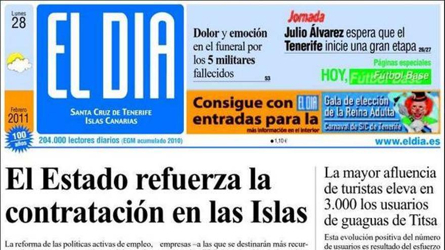 De las portadas del día (28/02/2011) #3