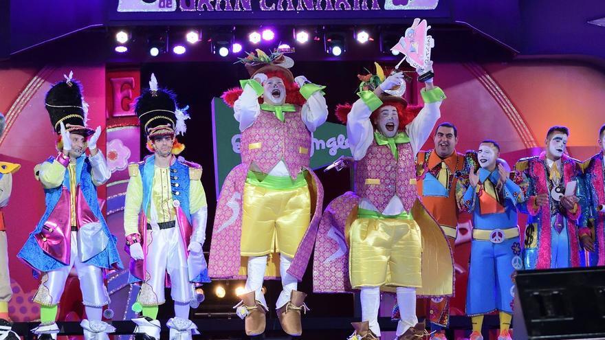 Los Nietos de Sary Mánchez han vuelto a obtener el primer premio a la interpretación del concurso de murgas del carnaval de Las Palmas de Gran Canaria.