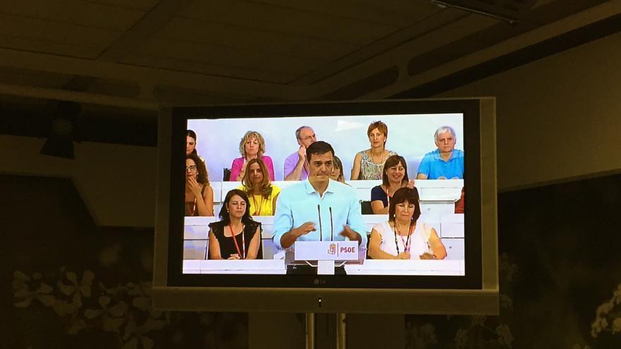 Intervención de Pedro Sánchez en el Comité Federal del PSOE el 9 de julio de 2016.