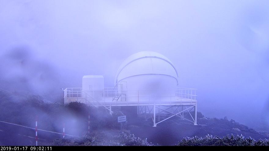Imagen del telescopio robótico Goto del Observatorio del Roque de Los Muchachos, este jueves,