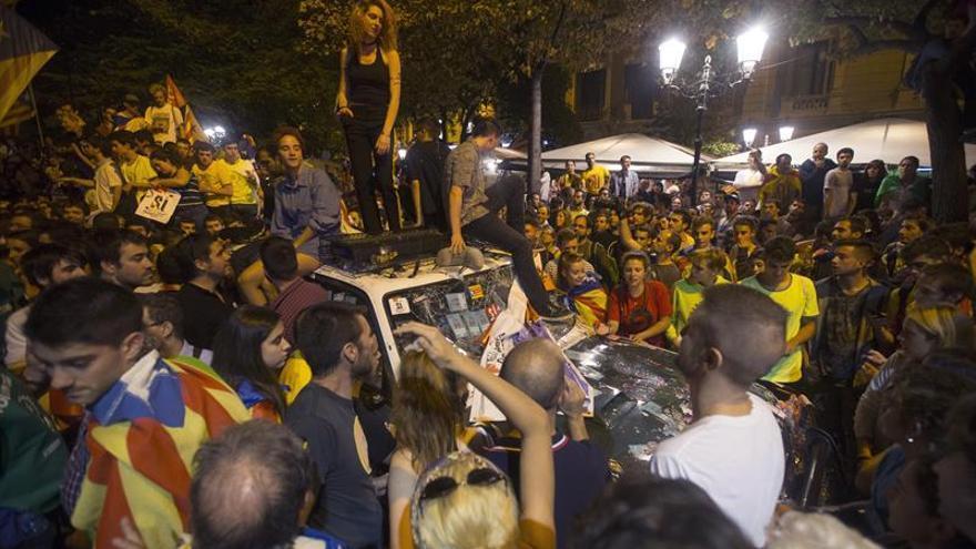 La protesta en Barcelona por el 1-0 se salda sin detenidos por parte de los Mossos