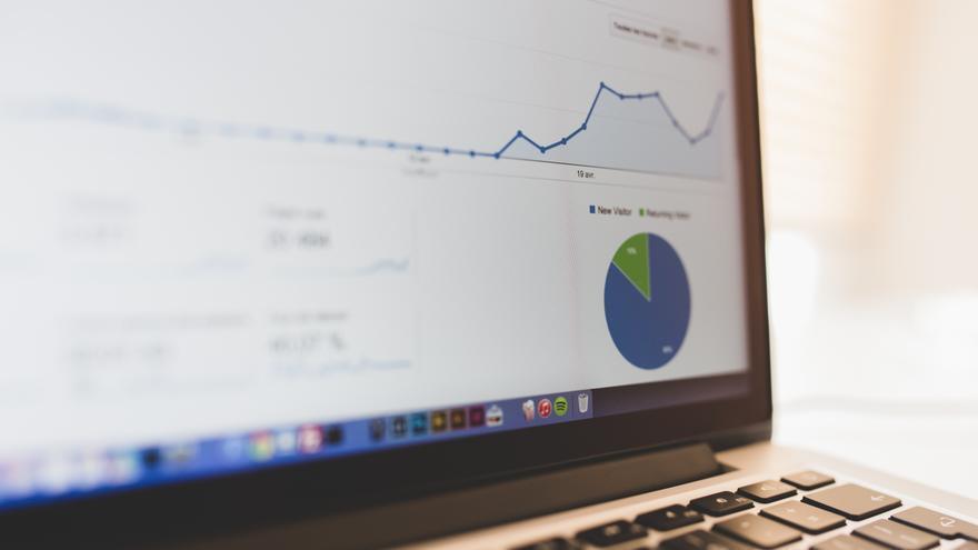 Gráfica de Google Analytics. / Foto: Luis Llerena