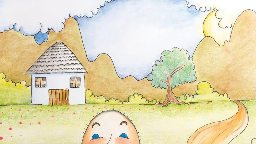 Ilustración de 'El cazador y la tribu de los Lazulis', cuento antiespecista de Aída Cortecero.