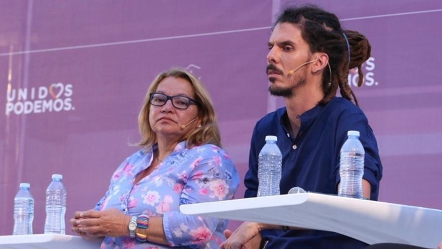 Meri Pita y Alberto Rodríguez, diputados de Podemos