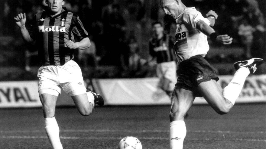 Imagen del Tenerife-Milán jugado en el Heliodoro el 14 de diciembre de 1992.
