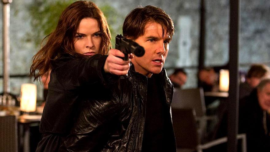 Rebecca Ferguson y Tom Cruise en 'Misión Imposible Nacion secreta'