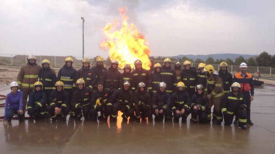 Los bomberos de la DPH en un curso de formación