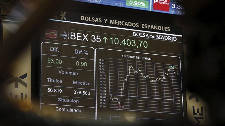 El IBEX 35 abre con una subida del 0,08 % y se sitúa en 10.349 puntos