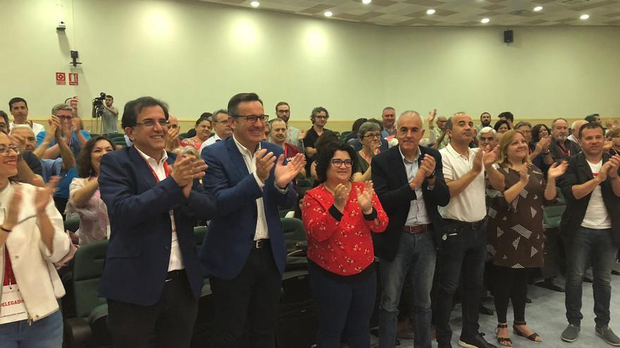 Diego Conesa en la 'Asamblea de Delegados y Delegadas. Constitución de la Agrupación Municipal Ciudad de Murcia'