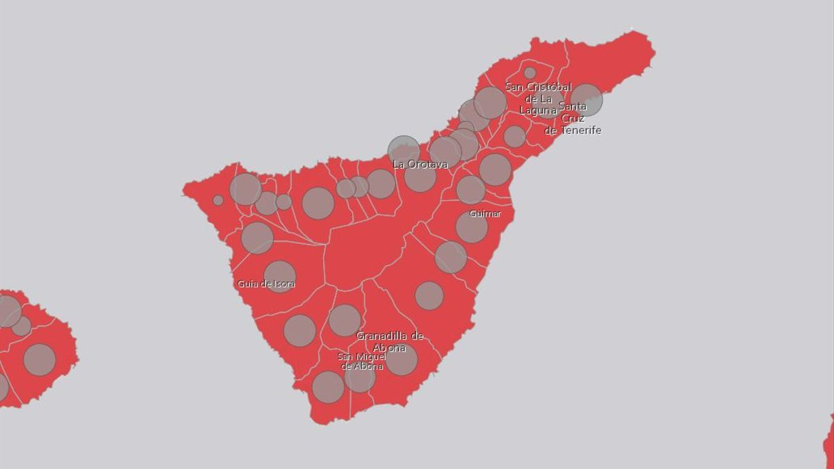 Incidencia de casos COVID en Tenerife este miércoles, 28 de julio