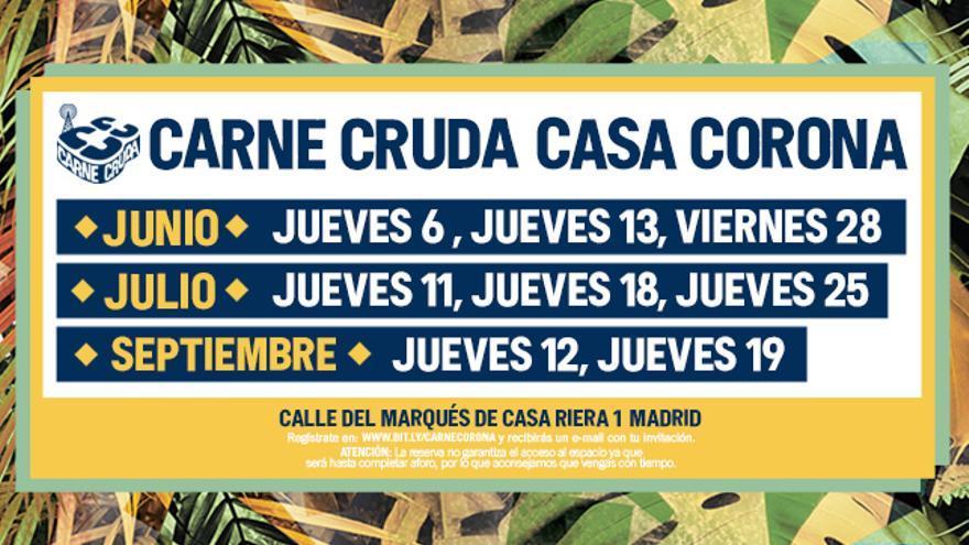 Carne Cruda Casa Corona 2019