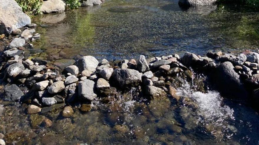 Un oasis en La Caldera: el agua corre por Taburiente en plena sequía