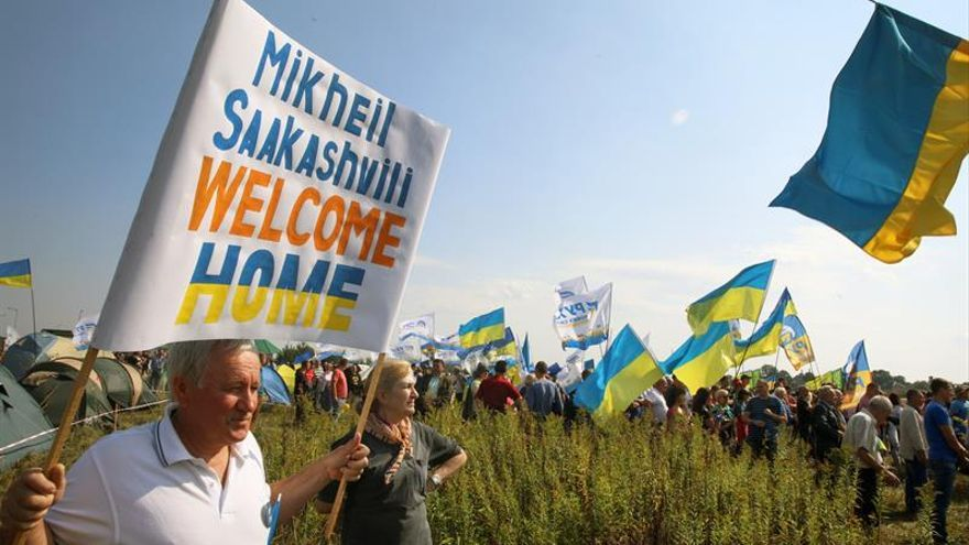 Ucrania impide la entrada de Saakashvili en tren desde Polonia