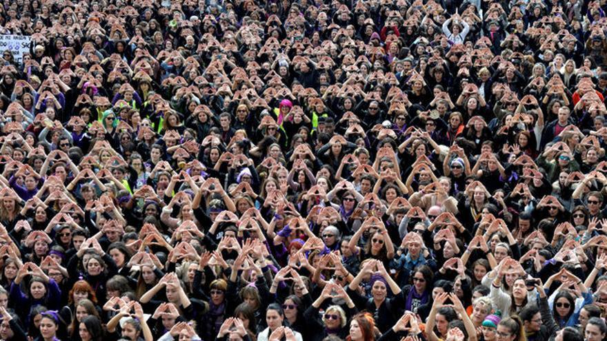 Manifestación en Bilbao el Día de la Mujer 2018