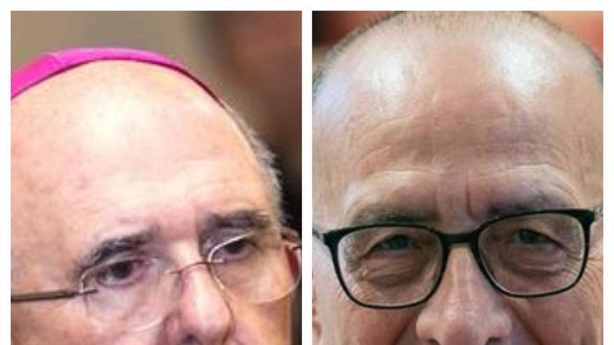 Los cardenales Osoro y Omella.