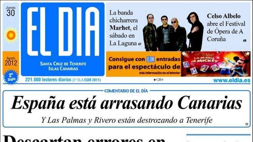 De las portadas del día (30/08/2012) #3