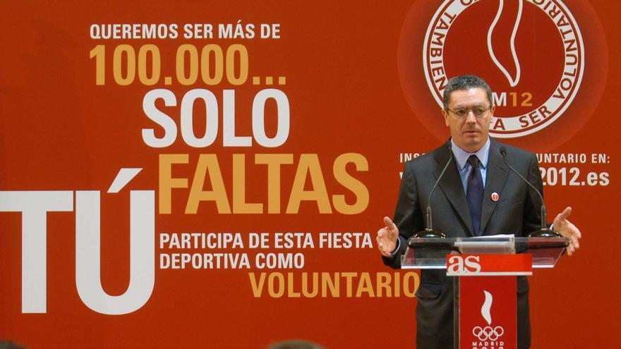 Alberto Ruíz-Gallardón en un acto de Madrid 2012. /Madrid.es