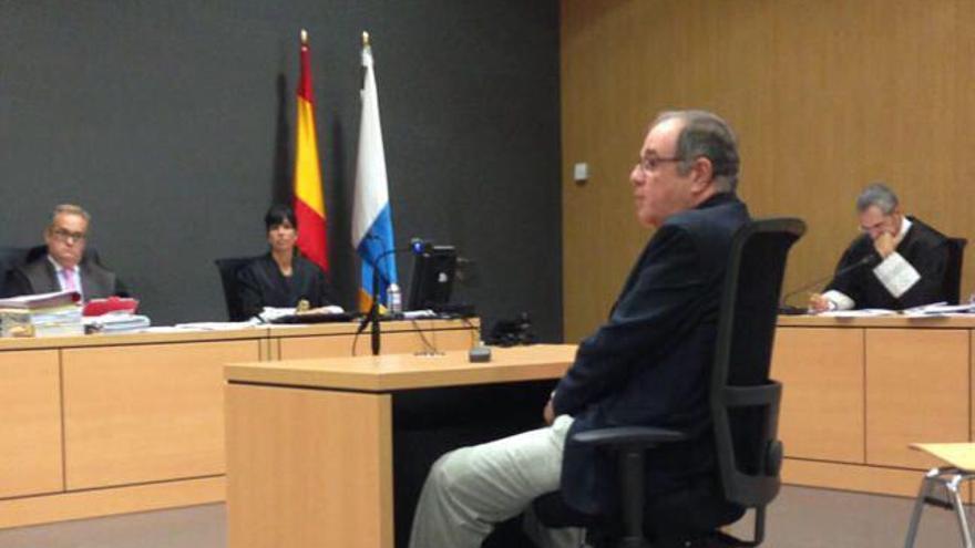El ex alto cargo de CC Juan José Delgado Montero, declarando a favor de Victor Díaz en el juicio por el caso Icfem.