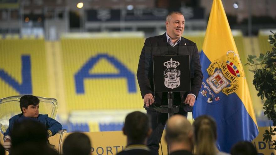 El presidente de la UD Las Palmas, Miguel Ángel Ramírez.