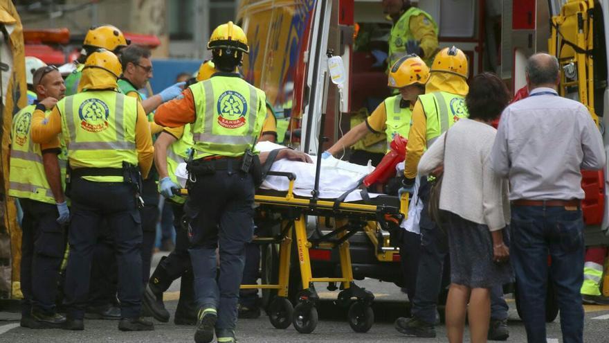 Víctima del derrumbe del Hotel Ritz. Autor Fran Lorente / CCOO Madrid
