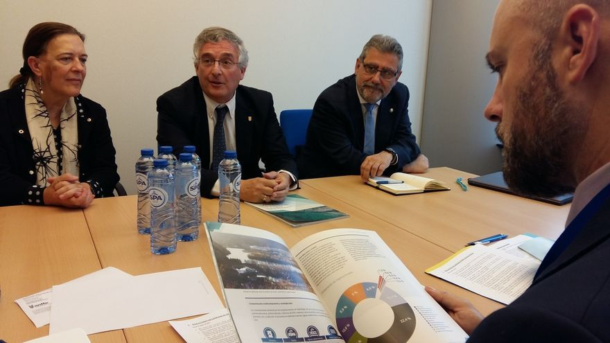 El Gobierno de Aragón busca en Bruselas apoyo para la descontaminación del lindano en el río Gállego