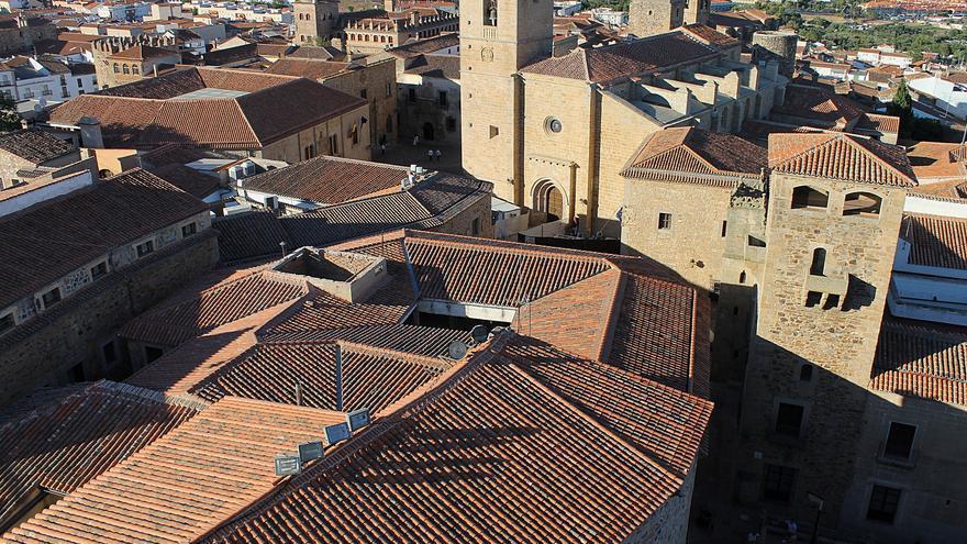 El Casco Histórico de Cáceres desde las alturas; uno de los mejor conservados de España. Nicolas Vollmer (CC)