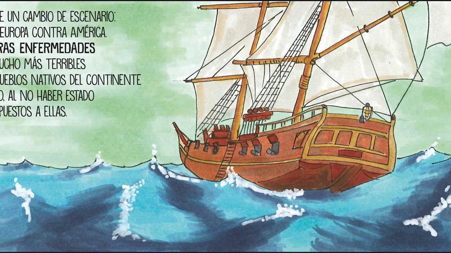 Una de las viñetas que aparecen en el libro 'Comicreando' / Foto: cedida.
