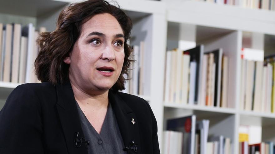 La alcaldesa de Barcelona, Ada Colau, en la redacción de eldiario.es.
