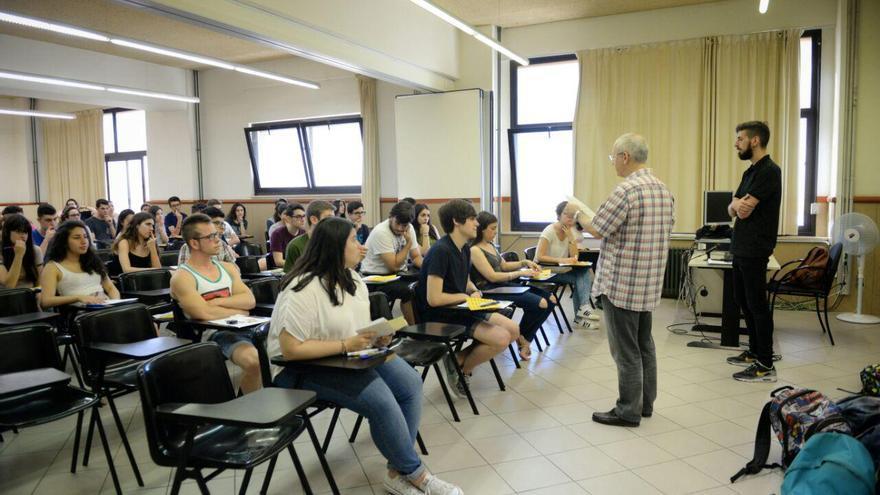 Aula de la Facultad de Psicología de la UB