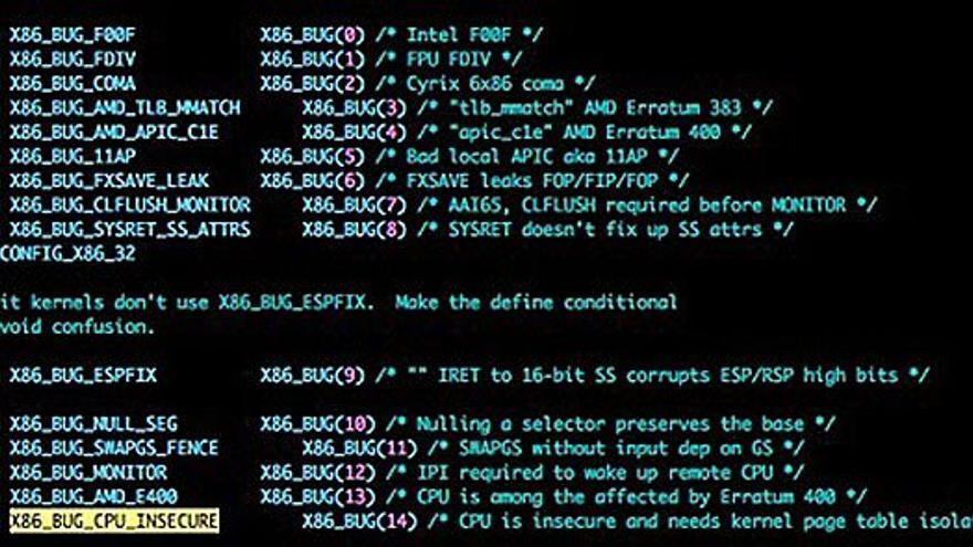 El parche con 'Kernel Page Table' para solucionar el problema de Intel