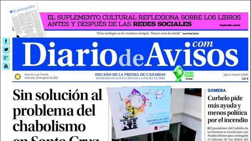 De las portadas del día (29/08/2012) #2