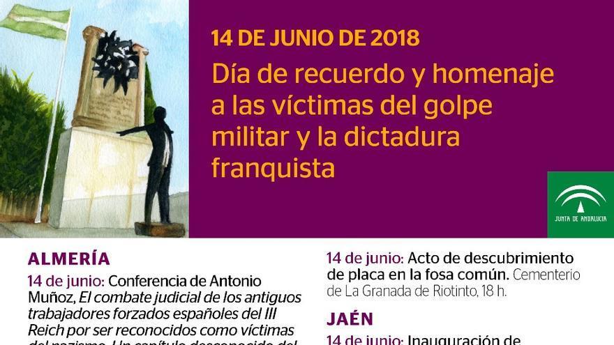 Programa de actos del 14J, día de las víctimas del franquismo.