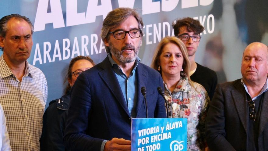 """Oyarzabal asegura que el PP """"no apoyará"""" ni un Gobierno de EH Bildu ni del PNV en Vitoria"""