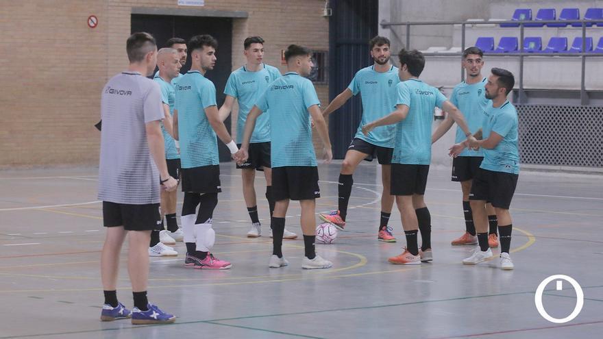 Jugadores del Córdoba Patrimonio en un entrenamiento