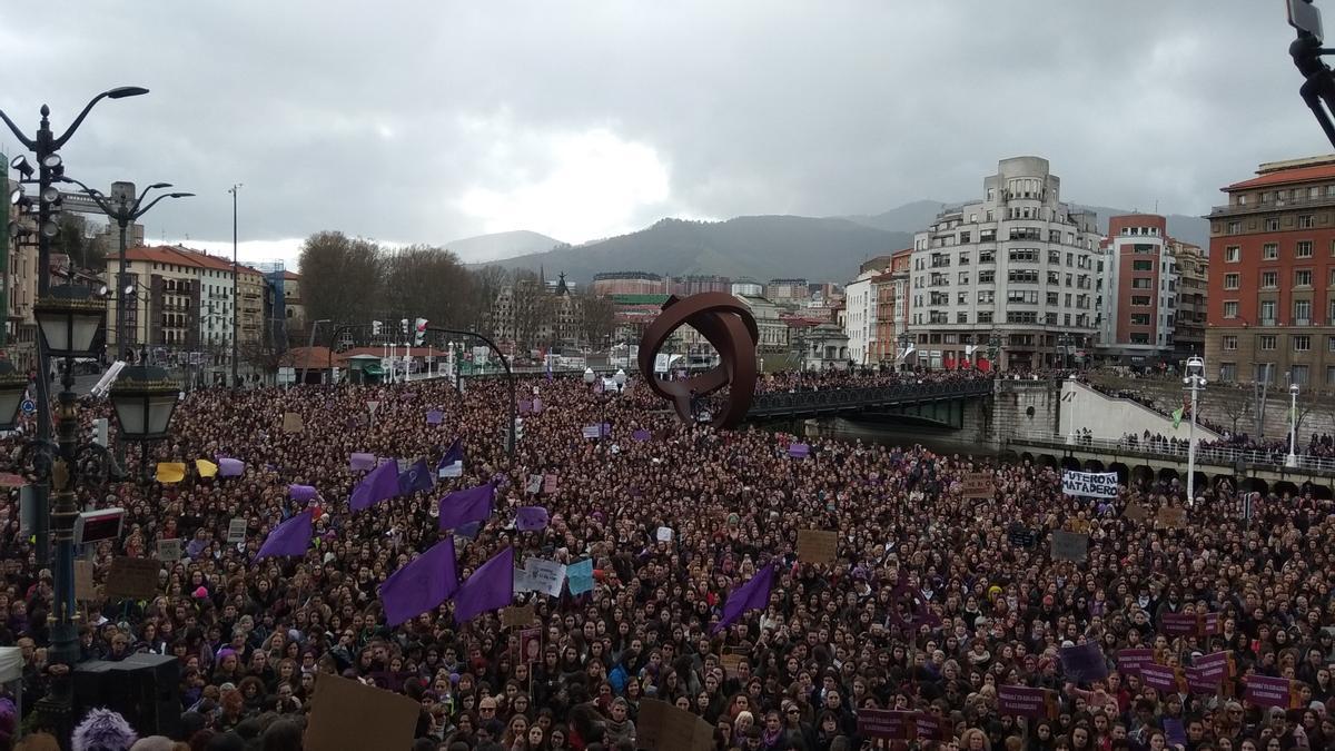 Archivo - Manifestación del 8M en Bilbao en 2019