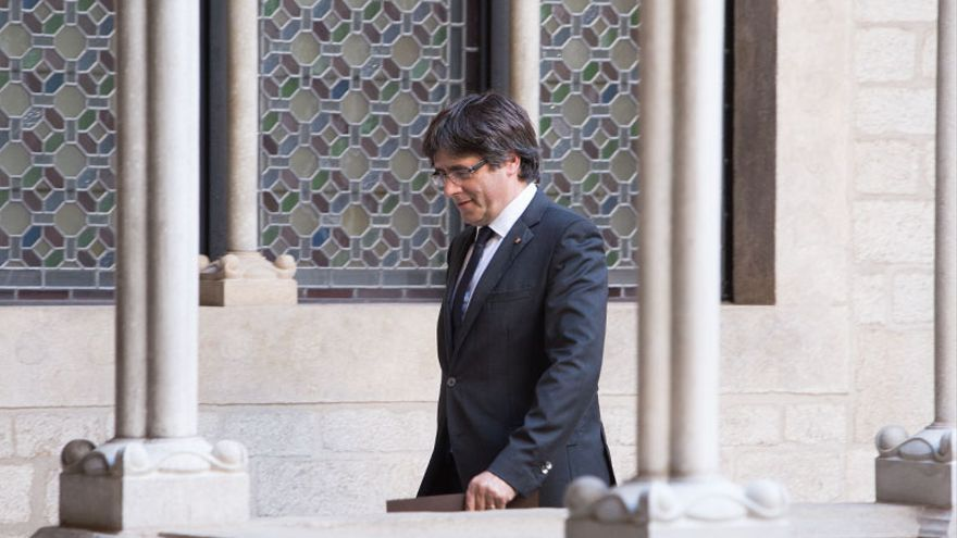 Puigdemont en el Palau de la Generalitat