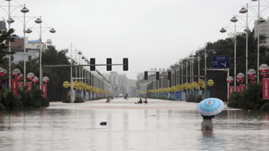 Inundaciones han en la isla china de Hainan